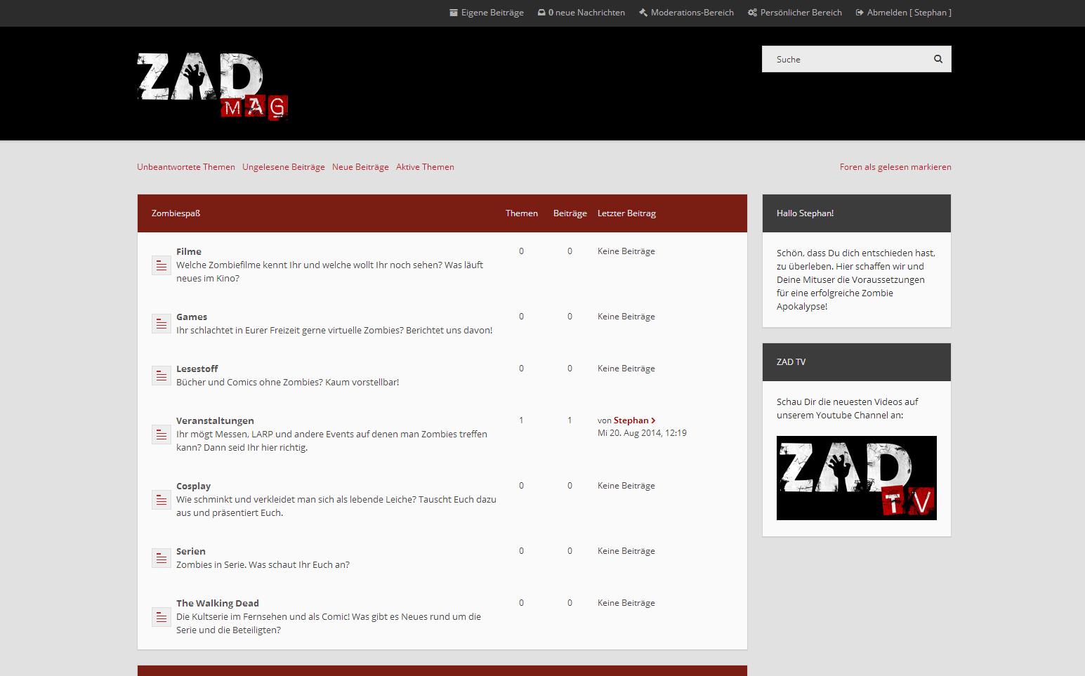 ZAD Forum online