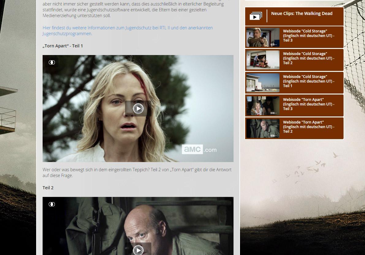 The Walking Dead Webisodes auf RTL2.de