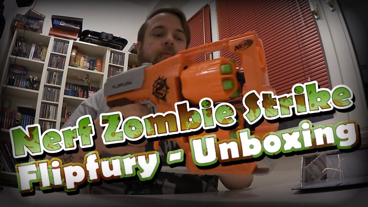 Nerf Zombie Strike Flipfury Unboxing und Review