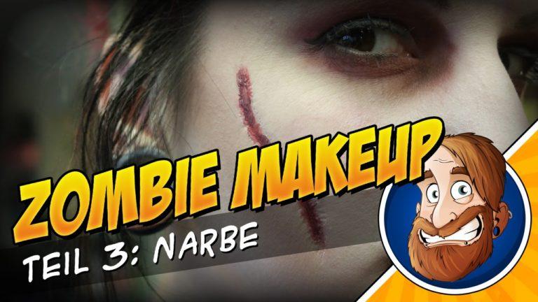 Zombie MakeUp Tutorial 3 – Narbe mit Collodium