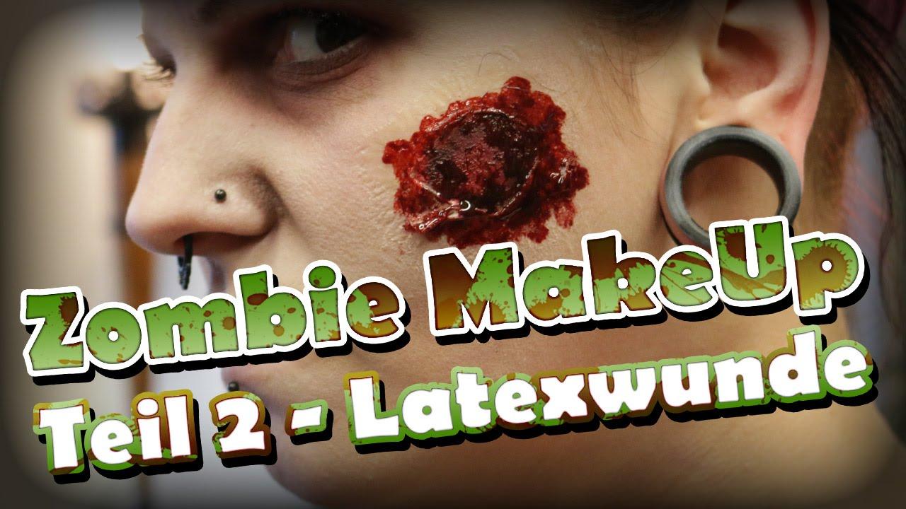 Zombie MakeUp Tutorial 2 – Latexwunde