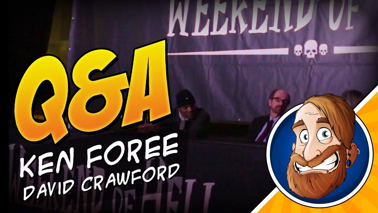 Q&A Panel mit Ken Foree und David Crawford auf dem Weekend of Hell